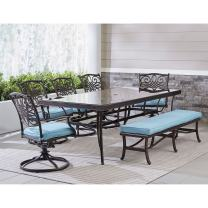 Hanover TRADDN7PCSW5GBN-BLU Traditions Outdoor Furniture, Blue