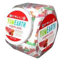 YumEarth Organic Lollipops, Assorted Flavors, 6 Ounce Container, 5 pack