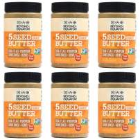 Beyond the Equator 5 Seed Butter Crunchy- Peanut Free, Tree Nut Free, Sunflower Seed, Chia Seed, Flaxseed, Pumpkin Seed, Hemp Hearts, Low Carb, Keto, Non-GMO, 6 Pack, 16 Ounces