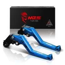 MZS Clutch Brake Levers Adjustment Short Square CNC Blue Compatible with GSXR 600 750 GSXR600 GSXR750 GN7CA GR7JA 2004-2005