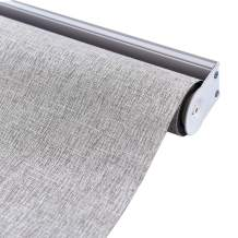 ALLBRIGHT 100% Blackout Roller Shades for Windows UV Protection Roller Blind Striped Jacquard (Coffee, 27''W x 72''H)