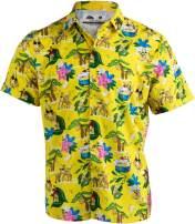 Bananas & Blow | Funny Cool Hawaiian Button Down Polo Golf Party Shirt for Men