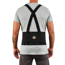 "Ergodyne ProFlex 1650 Back Support Belt, 7.5"" Elastic, Adjustable, Removeable Straps, Medium"