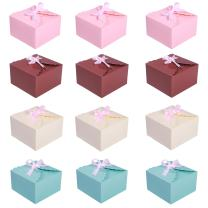 MissShorthair Gift Boxes, 12 Pack Solid Color Decorative Boxes for Small Gifts, Favor Boxes for Christmas, Wedding, Birthday, Party, Holidays