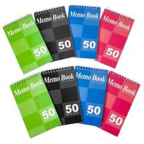 Kicko Spiral Notepads 3 x 5 Inches - Small Spiral Memo Pads - Top Bounded Memo Books - Mini Pocket Memo Pads – 8 Pack - for Kids, School Supplies, Office Desk
