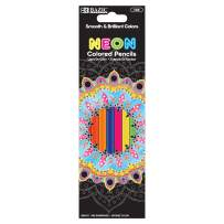 BAZIC 8 Neon Colored Pencils, Fluorescence Vibrant Set of Colored Pencil, Great Adult and Kids Art Crafts Activities Drawing Sketching Painting Doodling (1 Pack)