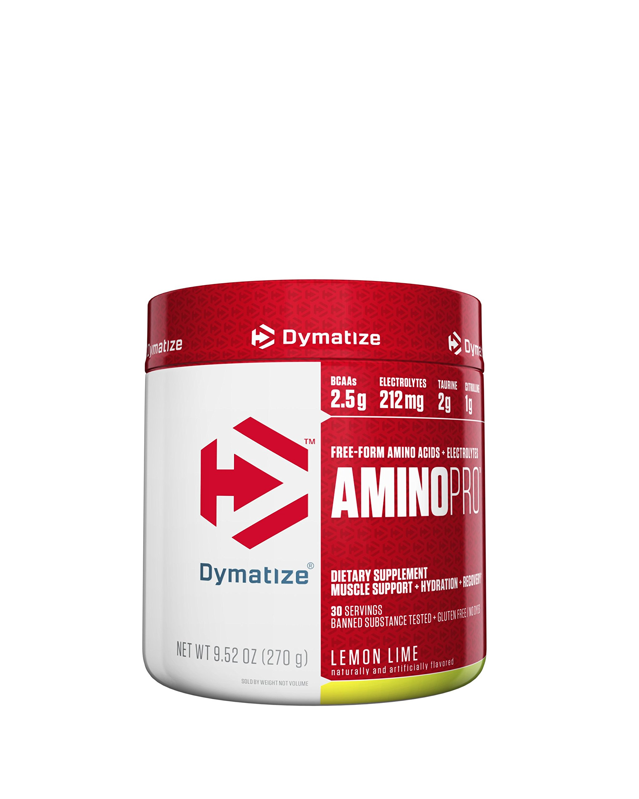 Dymatize AminoPro Endurance Amplifier Powder, Reinforced with Electrolytes & Amino Acids, Lemon Lime, 9.52 Ounce
