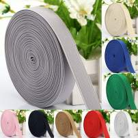 """Multicolors-5 Yards Fold Over Elastic Bands/Elastic Ribbon 3/4"""" Width for Sewing DIY Headbands, Wristbands, or Hair Ties (Grey)"""