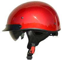 Vega Helmets Unisex-Adult Half Helmet (Velocity Red, Small)