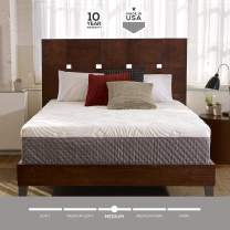 Sleep Innovations Shiloh 12-inch Memory Foam Mattress, Bed in a Box, Quilted Cover, Made in The USA, 10-Year Warranty - Full Size