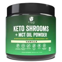 Bean Envy Keto Shrooms – Mushroom Extract Root Powder + MCT Oil Powder + Ashwagandha – Perfect for Keto, Immunity Boost, Weight Loss and Stress Management - Vanilla