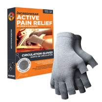 Incrediwear Fingerless Circulation Gloves - Arthritis Gloves for Women and Men to Help with Joint Pain Relief, Inflammation, and Poor Circulation (Grey, Small)