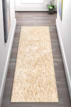 "Well Woven Lulu Vintage Beige & Ivory Distressed Oriental Runner Area Rug 2x7 (2'7"" x 9'10"")"