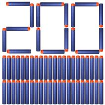 Tomons Refill Darts 200PCS Bullets for Nerf N-Strike Elite Zombie Strike Rebelle - Blue