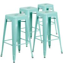 Flash Furniture 4 Pk. 30'' High Backless Mint Green Indoor-Outdoor Barstool
