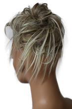 PRETTYSHOP Hairpiece Hair Rubber Scrunchie Scrunchy Updos VOLUMINOUS Wavy Messy Bun dirty blonde mix #18TH613A G25F