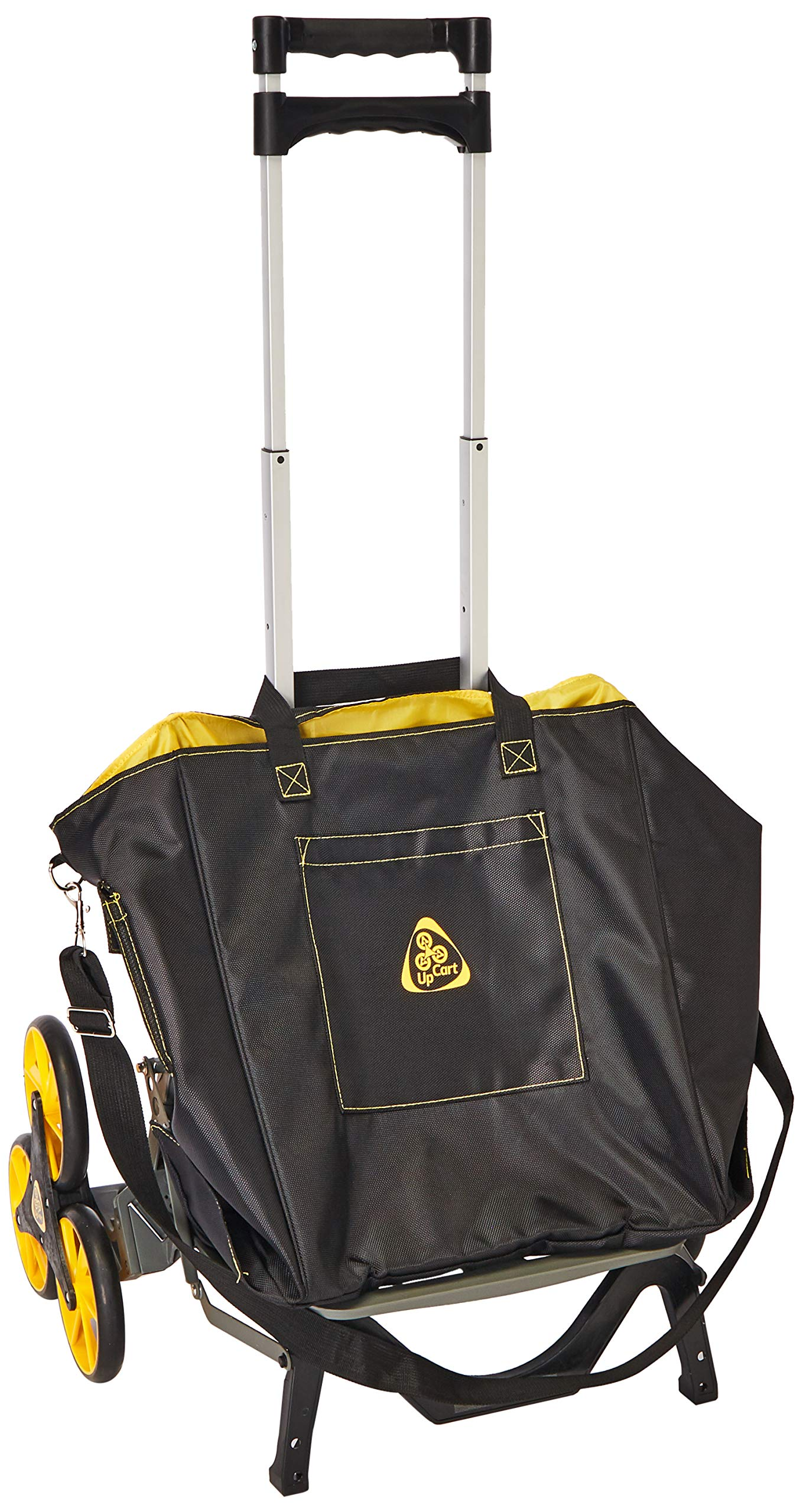 UpCart with Bag Bundle All-Terrain Stair Climbing Folding Cart Moves up to 100-pounds