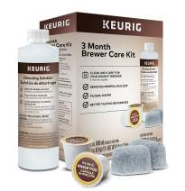 Keurig 3-Month Brewer Maintenance Kit, Includes Descaling Solution, Water Filter Cartridges & Rinse Pods, Compatible with Keurig Classic/1.0 & 2.0 K-Cup Pod Coffee Makers, 7 Count