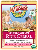 Earth's Best, Organic Infant Cereal, Whole Grain Rice, 8 oz