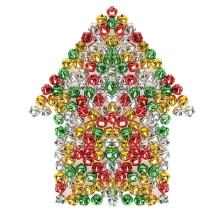 Pengxiaomei 200 PCS Jingle Bells, Colorful Christmas Bells, Mini Craft Bells Bulk for Party & Festival Decorations and Jewelry Making, 0.4 Inch