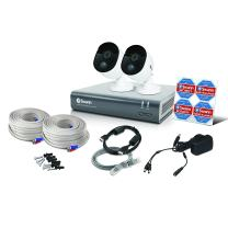 Swann 2 Camera 4 Channel 1080p DVR Security System | 1TB HDD, Heat & Motion Sensing + Night Vision