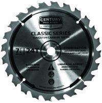 "Century Drill & Tool 9207 Classic Series Combination Circular Saw Blade, 7-1/4"""