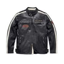 Harley-Davidson Men's Command Leather Jacket, Black