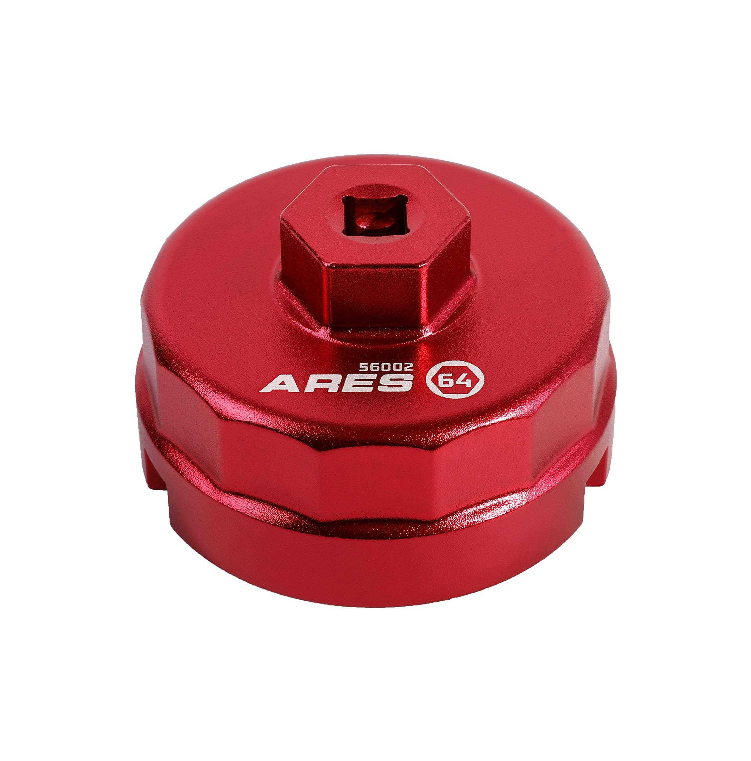 ARES 56002-64mm Oil Filter Cap Wrench for Toyota, Lexus, Scion 1.8 Liter Engines - 3/8-Inch Drive - Easily Remove Oil Filters on 4-Cylinder Engines