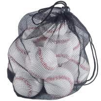 Tebery 12 Pack Standard Size T-Ball Training Baseballs, Reduced Impact Safety Baseballs, Unmarked & Soft Practice Baseballs