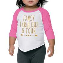 Bump and Beyond Designs Girl Birthday Shirt Four Year Old Girl Fourth Birthday Outfit
