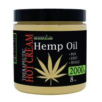 GreenIVe - Hemp Hot Cream 2,000mg - Soothing Moisturizing Hemp Hot Cream - Exclusively on Amazon (2,000mg 8 Ounce)