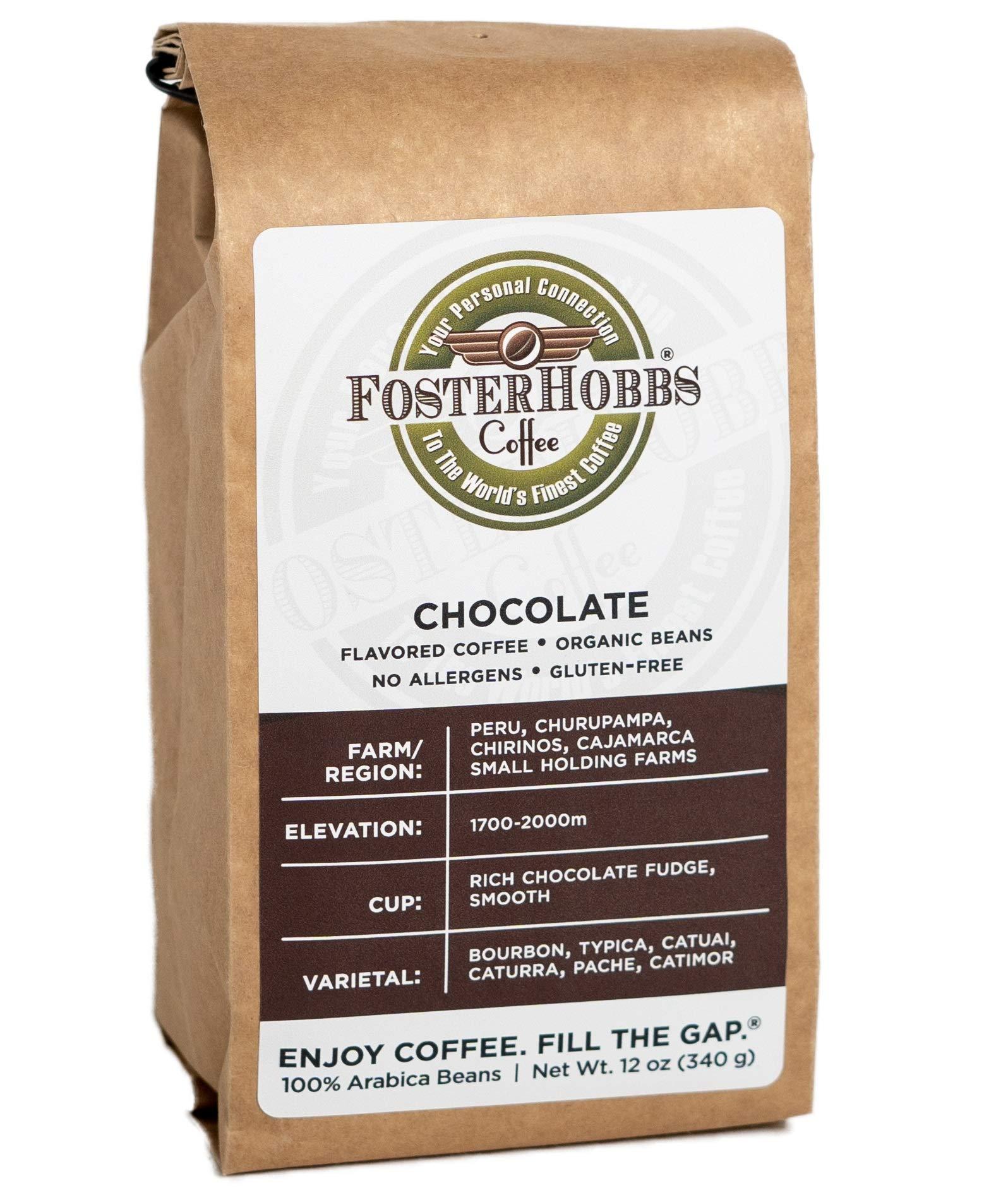 FOSTERHOBBS COFFEE - Roasted Whole Bean Coffee, Small Batch Specialty Grade (Chocolate)