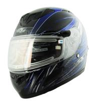 Vega Insight Electric Snow Full Face Helmet with Razor Graphic (Blue, X-Small)