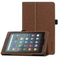 "Famavala Folio Case Cover Compatible with 7"" Amazon Kindle Fire 7 Tablet (9th Generation, 2019 Release) (ZBrown)"