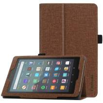 """Famavala Folio Case Cover Compatible with 7"""" Amazon Kindle Fire 7 Tablet (9th Generation, 2019 Release) (ZBrown)"""