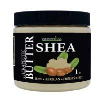 GreenIVe - 100% Pure Shea Butter - Raw - Exclusively on Amazon (16 Ounce Jar)