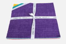 """Connecting Threads Blender Collection Precut Quilting Cotton Fabric Bundle 10"""" Squares (Chambray Tonal)"""
