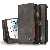 "iPhone 6s Plus Wallet Case, iPhone 6 Plus Detachable Cover, XRPow 2In1 Multi-Functional Removable Magnetic Back Cover 11 Card Slots & 3 Cash Pocket Premium Folio Zipper Wallet Case 5.5"" Black"
