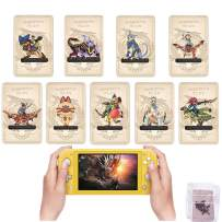 Monster Hunter Rise Amiibo Cards MH Rise NFC Mini Card with Case Compatible with Switch / Switch Lite, 9 Pcs