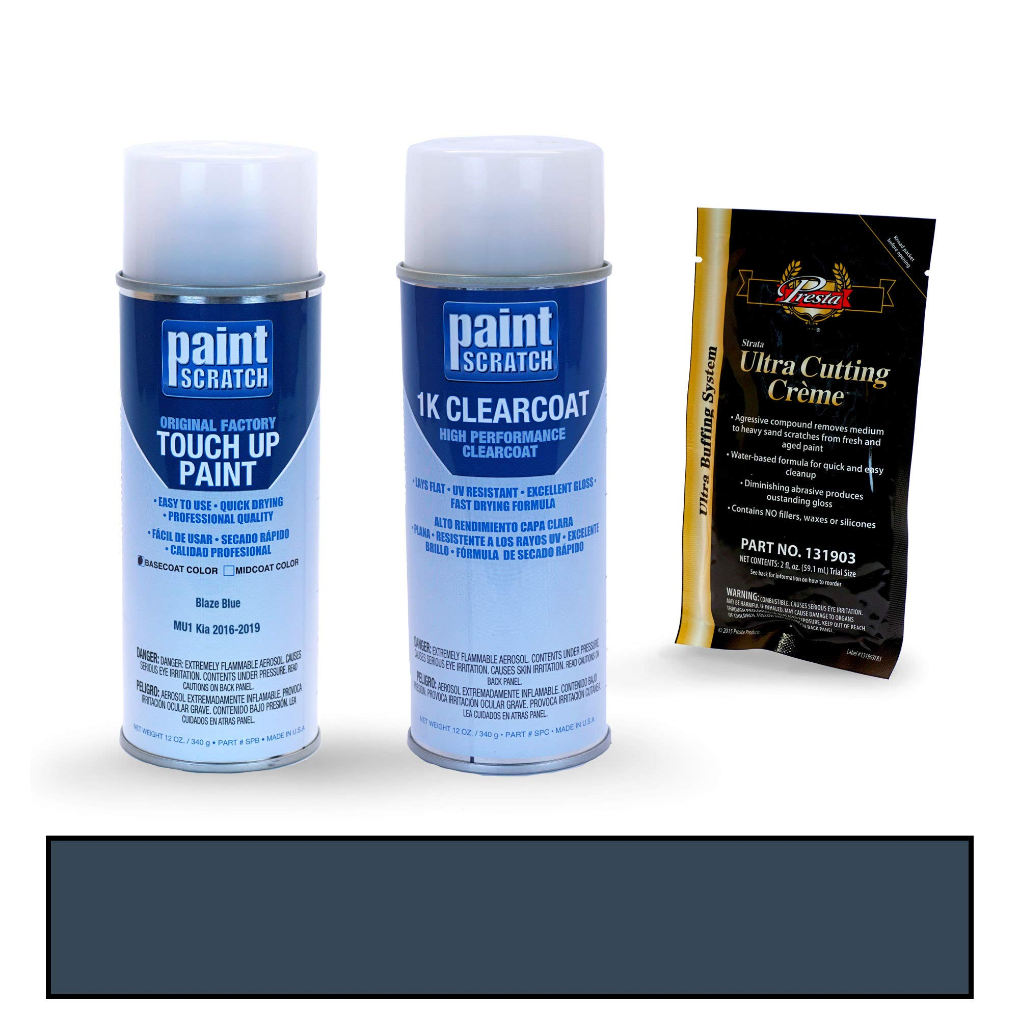 PAINTSCRATCH Touch Up Paint Spray Can Car Scratch Repair Kit - Compatible with Kia Sorento Blaze Blue (Color Code: MU1)