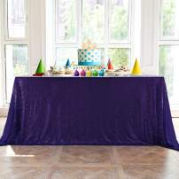"""HMQIANG Purple Sequin Tablecloth 60"""" x 102"""" Sparkly Purple Drape Table Cloth Sequin Fabric Table Cover for Wedding Birthday Party Baby Shower"""