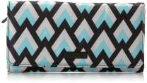 JuJuBe Be Rich Tri-Fold Wallet with Snap Enclosure, Onyx Collection - Black Diamond