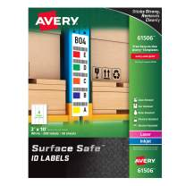 "Avery Surface Safe Durable ID Labels, Removable Adhesive, Water Resistant, 2"" x 10"", 200 Labels (61506)"