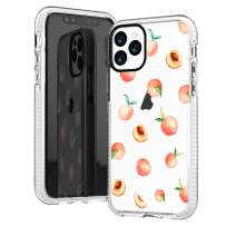 iPhone 11 Pro Max Case,Girls Women Cute Pink Peach Funny Fruits Series Hipster Love Aloha Summer Tropical Hawaii Beach Sassy Trendy Design Soft Protective Clear Case Compatible for iPhone 11 Pro Max