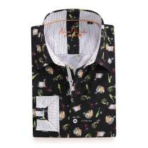 Alex Vando Mens Printed Dress Shirts Long Sleeve Regular Fit Fashion Shirt