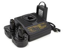 ExpertPower 12v 2000mAh NiCd Battery for Dewalt DW9072 DW9071 DC9071 DE9037 DE9071 DE9072 DE9074 DE9075 152250-27 397745-01 Battery Pack (2 Batteries + 1 Charger)