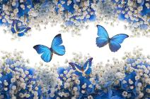 Mobicus DIY Diamond 5D Embroidery Paintings Rhinestone Pasted DIY 14x18in Christmas Painting Cross Stitch,Butterfly