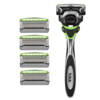 Schick Hydro Sense Sensitive Razors for Men With Skin Guards and Shock Absorbent Technology, 1 Razor Handle and 5 Razor Blades Refills