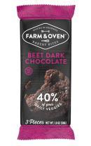 Farm & Oven Beet Dark Chocolate Bakery Bites - 12 pack. Beet Dark Chocolate brownie bites.8 Servings of Veggies. Delicious. Yummy. Healthy. 40% of Your Daily Veggies. High Fiber. 1 Box.