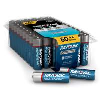 Rayovac AA Batteries, Alkaline Double A Batteries (60 Battery Count)